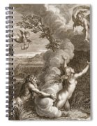 Arethusa Pursued By Alpheus And Turned Spiral Notebook