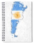 Argentina Painted Flag Map Spiral Notebook