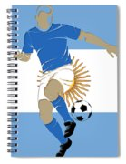Argentina Soccer Player2 Spiral Notebook