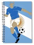 Argentina Soccer Player3 Spiral Notebook