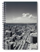 Arial View Of Calgary Facing West Spiral Notebook