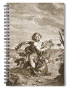 Arion Preserved By A Dolphin, 1731 Spiral Notebook