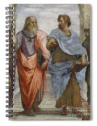 Aristotle And Plato Detail Of School Of Athens Spiral Notebook