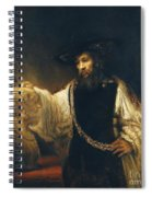 Aristotle With Bust Of Homer Spiral Notebook