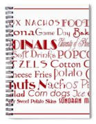 Arizona Cardinals Game Day Food 3 Spiral Notebook