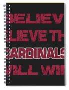 Arizona Cardinals I Believe Spiral Notebook
