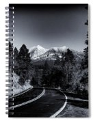 Arizona Country Road In Black And White Spiral Notebook