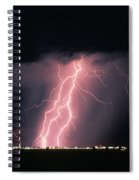 Arizona  Lightning Over City Lights Spiral Notebook