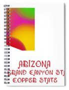 Arizona State Map Collection 2 Spiral Notebook