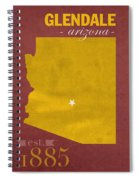 Arizona State University Sun Devils Glendale College Town State Map Poster Series No 012 Spiral Notebook