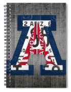 Arizona Wildcats College Sports Team Retro Vintage Recycled License Plate Art Spiral Notebook