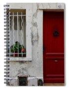 Arles House With Red Door Dsc01806  Spiral Notebook