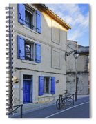 Arles With Bicycle And Moai Dsc01802   Spiral Notebook