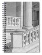 Arlington Memorial Amphitheater  Bw Spiral Notebook