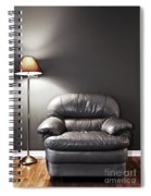 Armchair And Floor Lamp Spiral Notebook