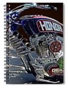 Armed Forces Tribute Bike Spiral Notebook