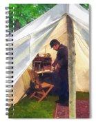 Army - Civil War Officer's Tent Spiral Notebook