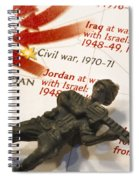 Army Man Lying On Middle East Conflicts Map Spiral Notebook