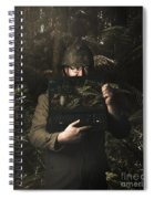 Army Soldier With Security Screen Saver Spiral Notebook
