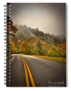Around The Bend Clouds Along The Blue Ridge Parkway Spiral Notebook