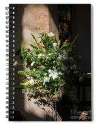 Arrangement Of White Flowers Spiral Notebook