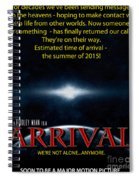 Arrival Faux Movie Poster Spiral Notebook