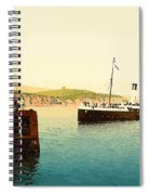 Arrival Of Boulogne Boat Folkestone - England  Spiral Notebook