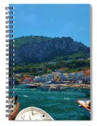 Arrival To Capri Spiral Notebook