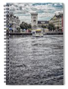 Arriving At The Boardwalk Before The Storm Spiral Notebook