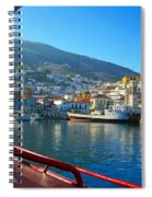 Arriving At Hydra Spiral Notebook