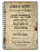 Arrow Rock - Gunsmith Sign Spiral Notebook