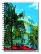 Art Deco Barbizon Hotel Miami Beach Spiral Notebook
