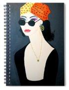 Art Deco  Hippy Girl Spiral Notebook