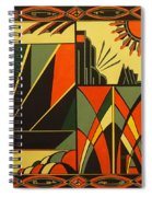 Art Deco In Orange Spiral Notebook