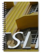 Art Deco Miami 6 Spiral Notebook