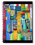 Art Deco Stained Glass 1 Spiral Notebook