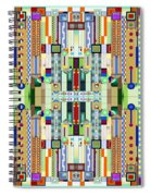 Art Deco Stained Glass 2 Spiral Notebook