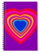 Art Heart Blue Spiral Notebook
