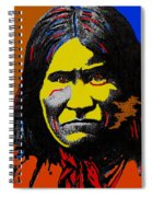 Art Homage Andy Warhol Geronimo 1887-2009  Spiral Notebook