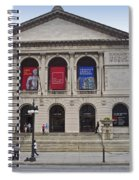 Art Institute West Facade Spiral Notebook