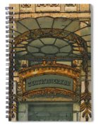 Art Nouveau Doorway In Ljubljana Spiral Notebook