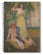 Art Nouveau Painting In The Mayors Spiral Notebook