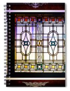 Art-nouveau Stained Glass Window Spiral Notebook