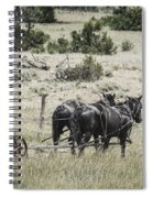 Art Of Horse Plowing Spiral Notebook