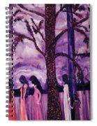 Art Purple Rain Spiral Notebook