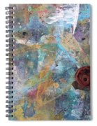 Art Table With Dried Paint Spiral Notebook