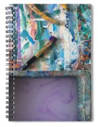 Art Table With Water And Brush Spiral Notebook