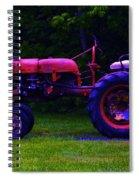 Artful Tractor In Purples Spiral Notebook