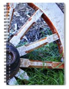 Artful Wagon Wheel Spiral Notebook