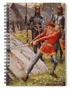 Arthur Draws The Sword From The Stone Spiral Notebook